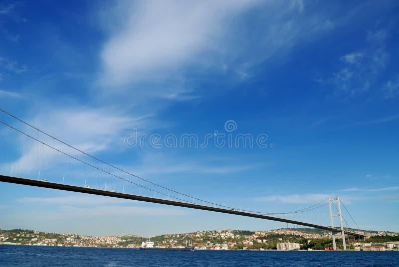 Passerelle de bosphorus d'Istanbul images stock