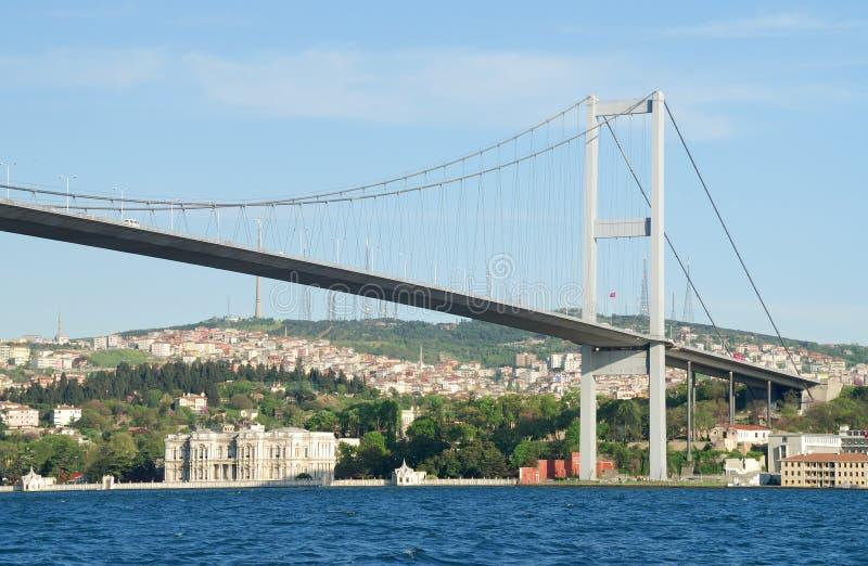 Passerelle de Bosphorus, Istanbul, Turquie photographie stock libre de droits