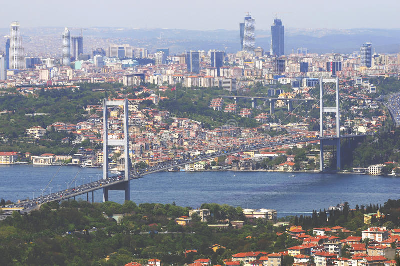 Passerelle de Bosporus d'Istanbul photographie stock
