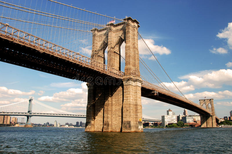 Passerelle de Brooklyn à New York City photos stock