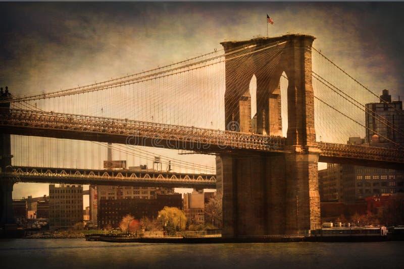 Passerelle de Brooklyn images libres de droits