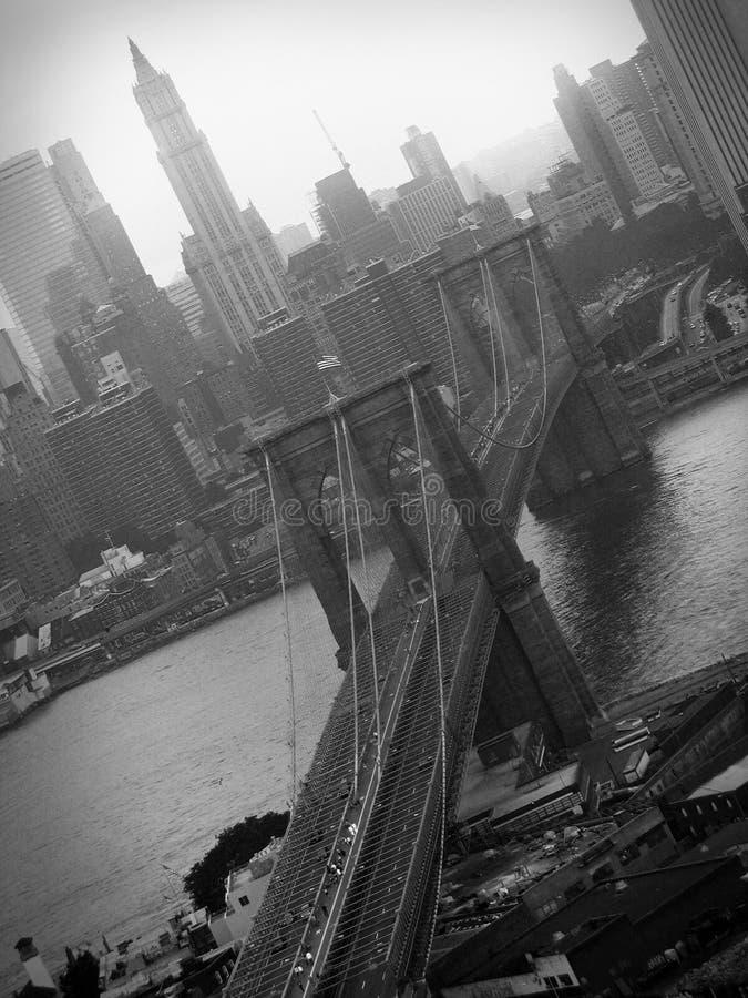 Passerelle de Brooklyn célèbre image libre de droits