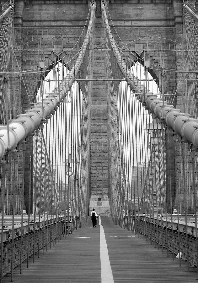 Passerelle de Brooklyn New York images stock