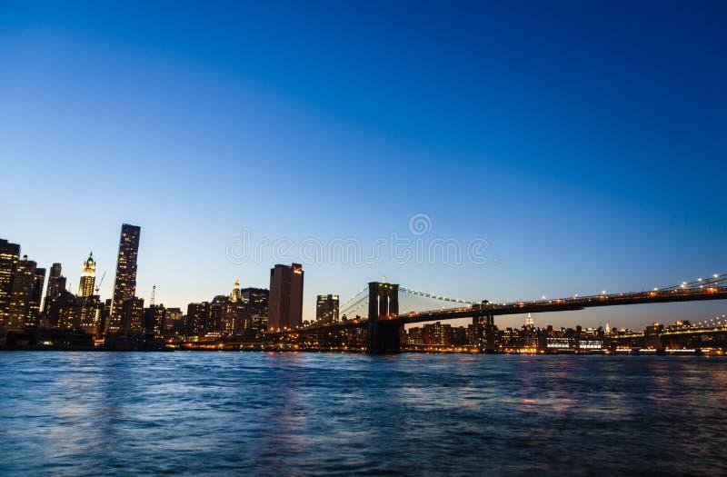 Passerelle de Brooklyn, New York images stock