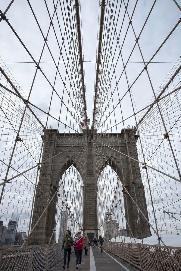 Passerelle de Brooklyn, New York City photos libres de droits