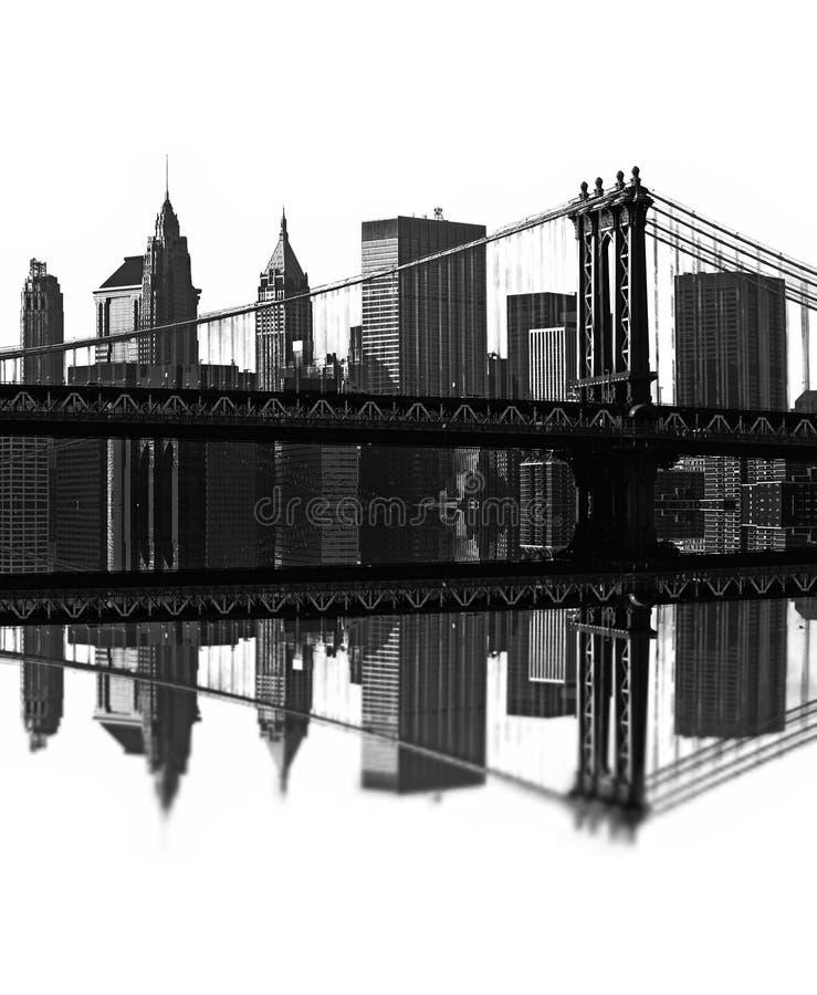 Passerelle de Brooklyn, New York, Etats-Unis illustration de vecteur