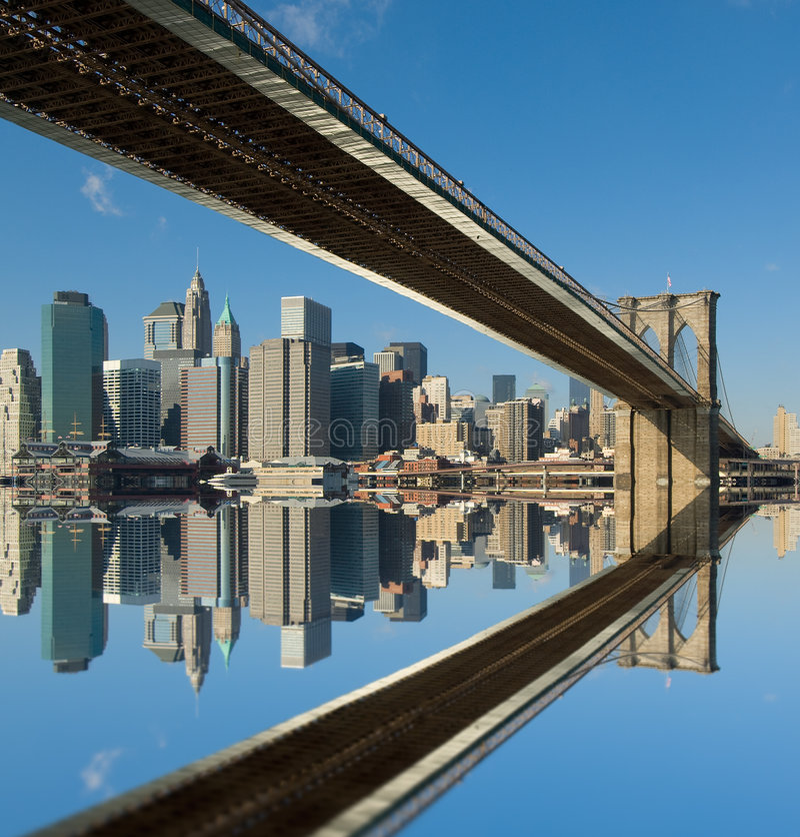 Passerelle de Brooklyn, New York, Etats-Unis photos libres de droits