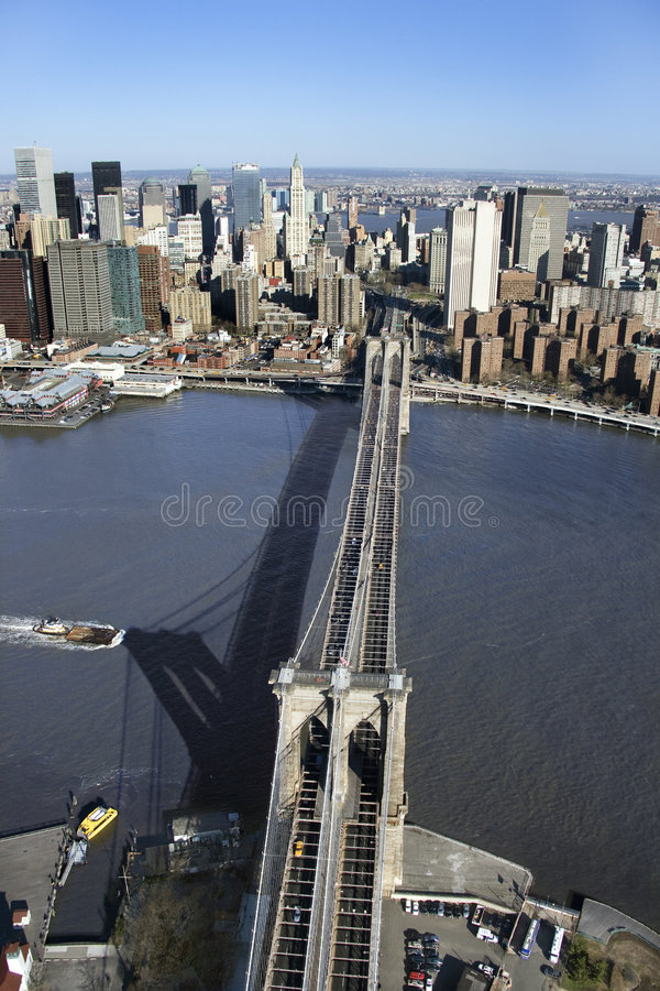 Passerelle de Brooklyn, NYC photos libres de droits