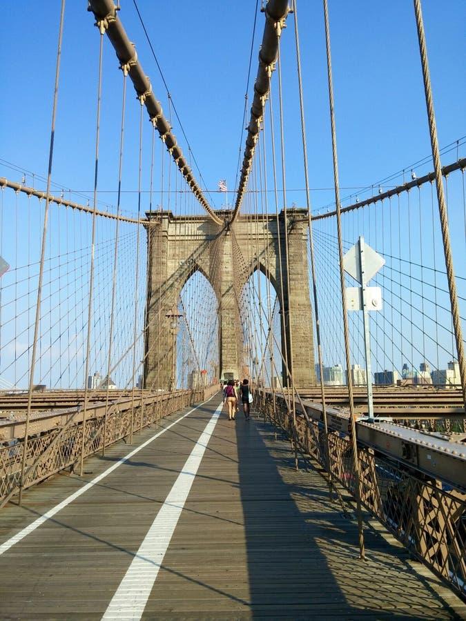 Passerelle de Brooklyn NYC image stock
