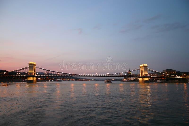 Passerelle de Budapest photos libres de droits