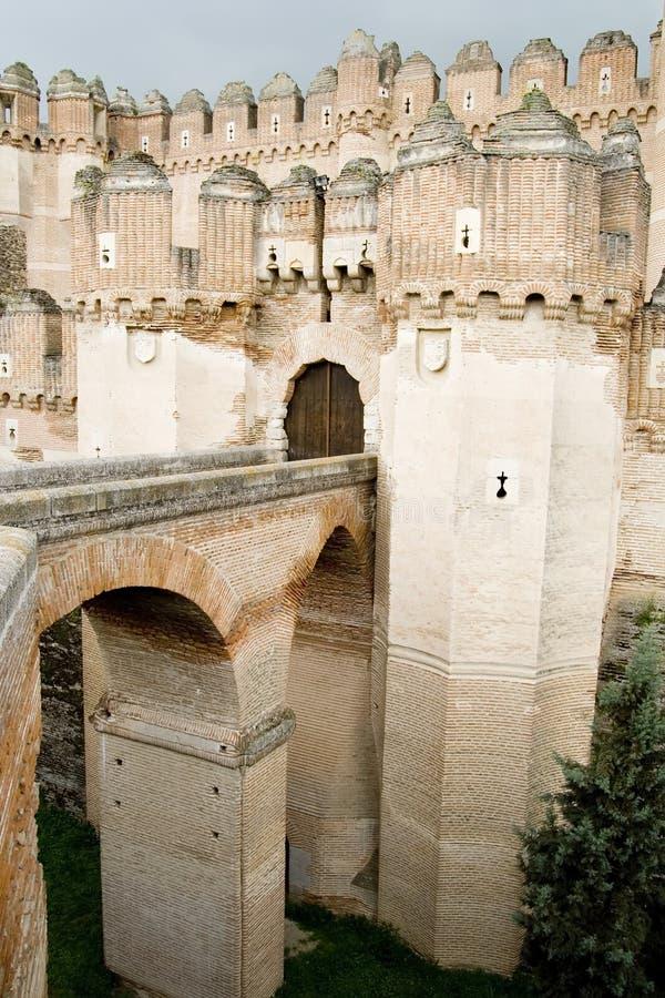 Passerelle de château image stock
