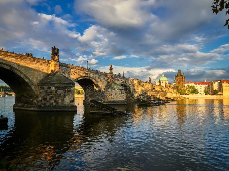 Passerelle de Charles, Prague, République Tchèque photo libre de droits