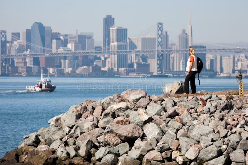Passerelle de compartiment d'Oakland photos libres de droits