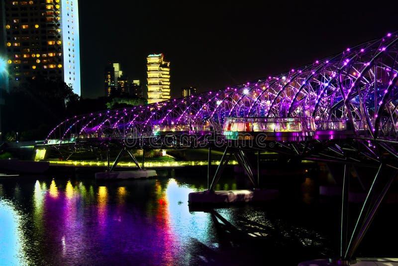 Passerelle de double helice, Singapour images stock