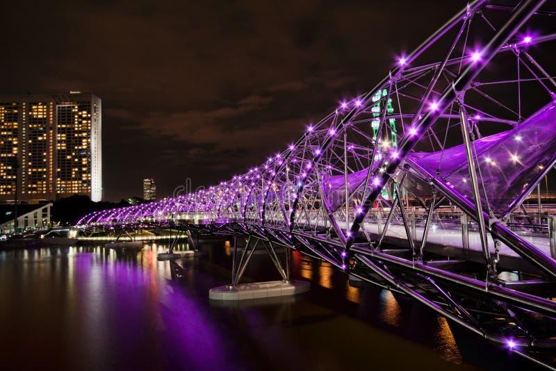 Passerelle de double helice, Singapour image libre de droits