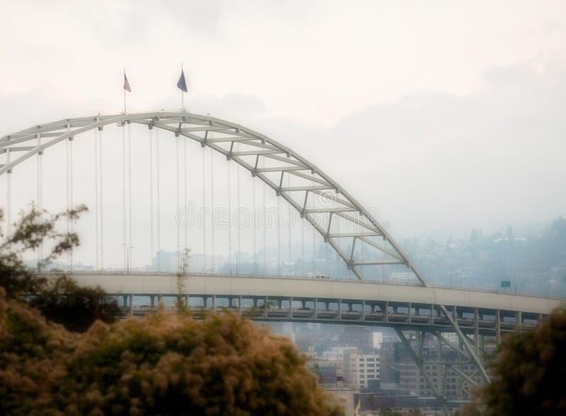 Passerelle de Fremont, Portland, Orégon images libres de droits