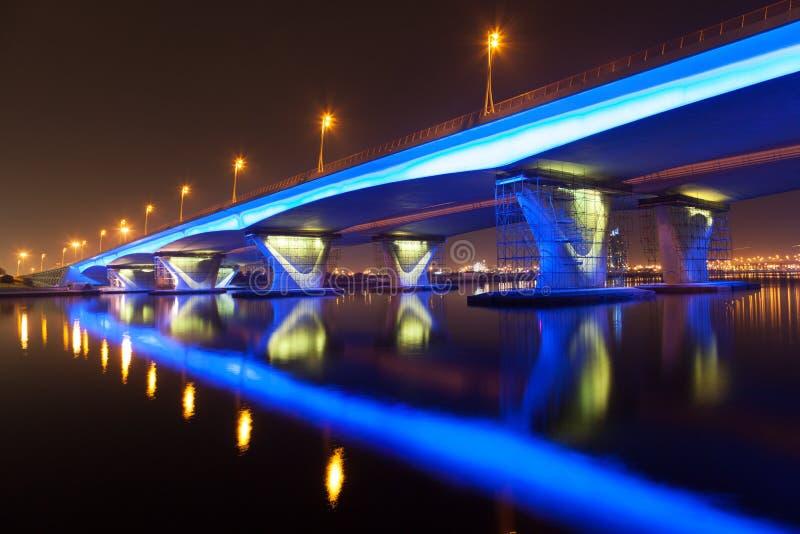 Passerelle de Garhoud d'Al à Dubaï images libres de droits