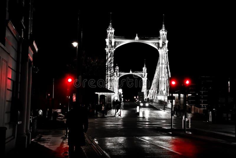 Passerelle de Londres - de Chelsea photographie stock