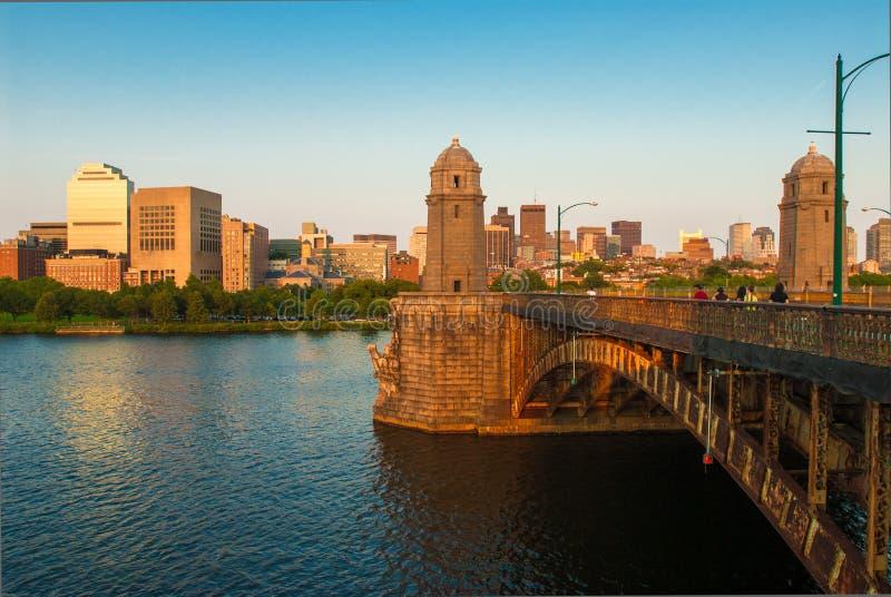 Passerelle de Longfellow de Boston photo stock