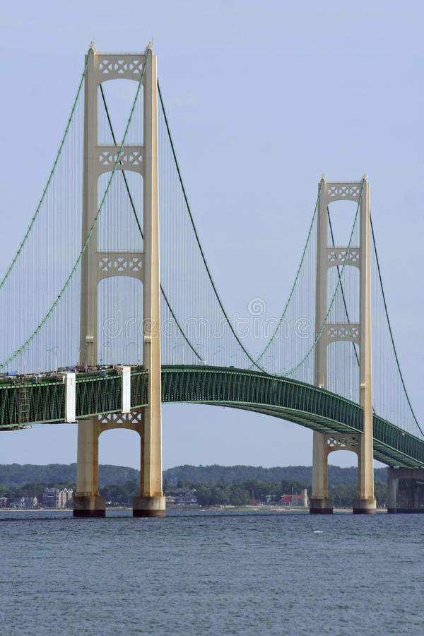 Passerelle de Mackinac photo stock