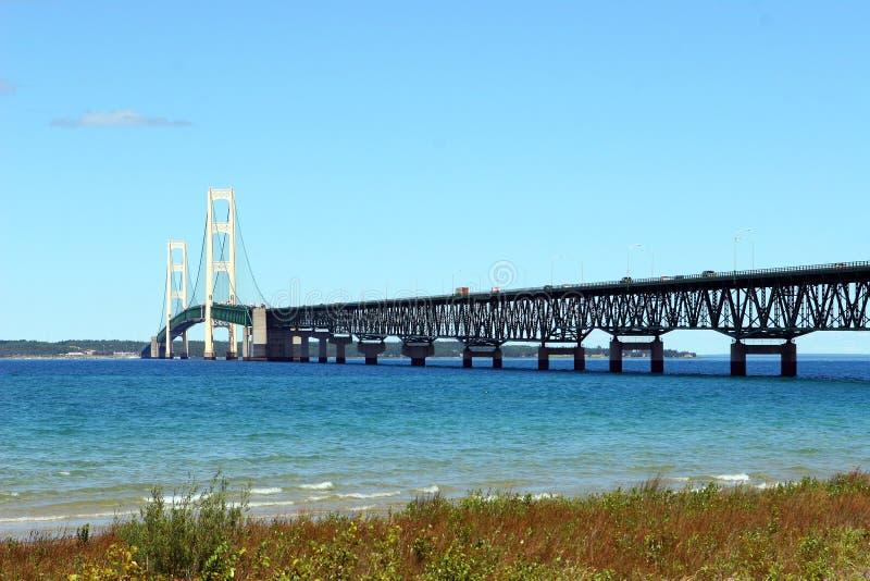 Passerelle de Mackinac au Michigan photos libres de droits