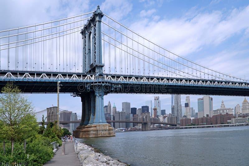 Passerelle de Manhattan image libre de droits