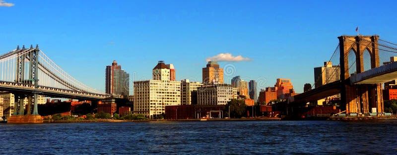 Passerelle de Manhattan et passerelle de Brooklyn image libre de droits