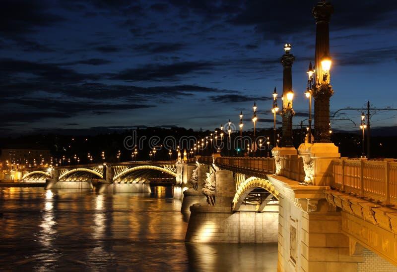 Passerelle de Margaret à Budapest photo libre de droits