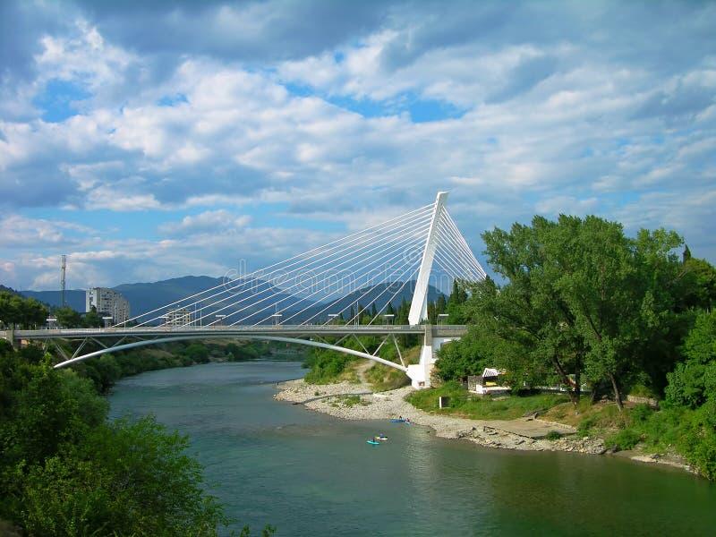 Passerelle de millénium, Podgorica, Monténégro photos libres de droits