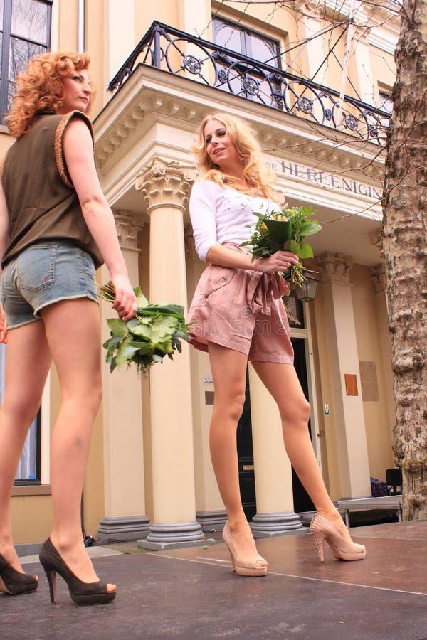 Passerelle de mode d'été photos libres de droits