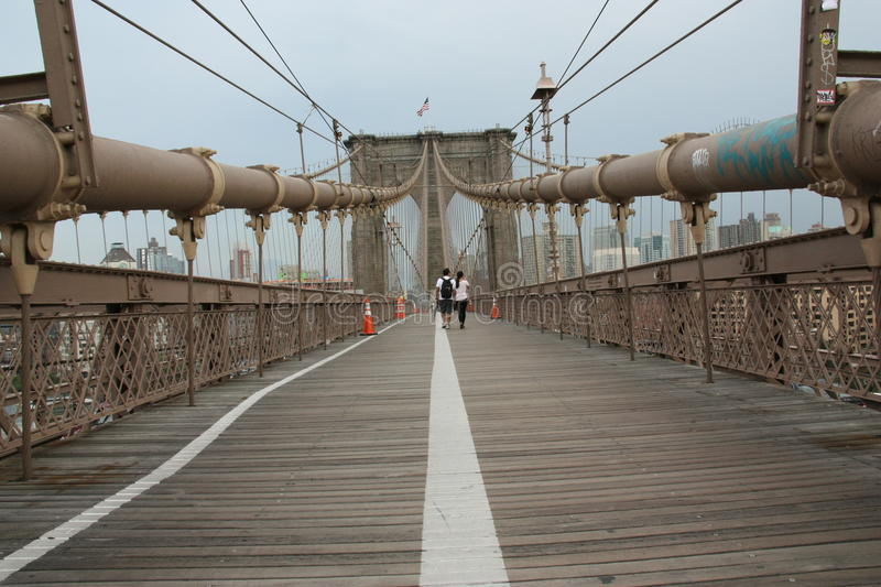 Passerelle de New York Brooklyn photos stock