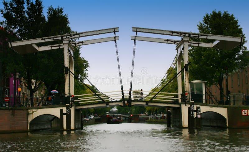 Passerelle de Niewe Herengracht, Amsterdam, Hollande images libres de droits
