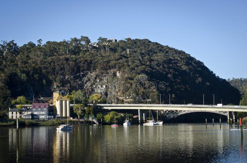 Passerelle de Paterson, Launceston, Tasmanie images libres de droits
