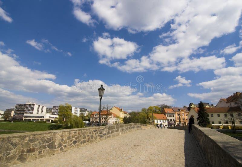 Passerelle de Pisek, République Tchèque image libre de droits
