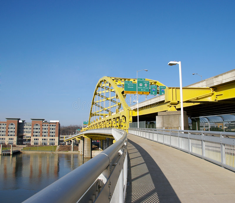 Passerelle de Pittsburgh images libres de droits