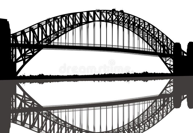 Passerelle de port de Sydney illustration stock
