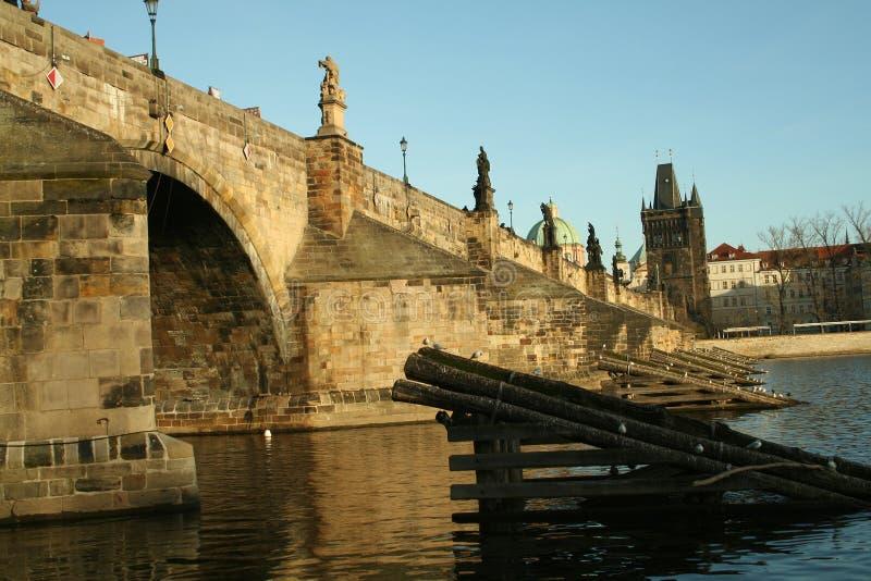 Passerelle de Prague de République Tchèque de l'Europe photos stock