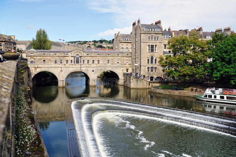 Passerelle de Pulteney, Bath, Somerset, Angleterre, R-U photo stock