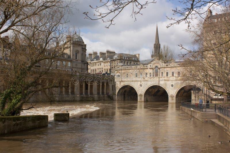 Passerelle de Pulteney, Bath, Somerset, R-U photos stock