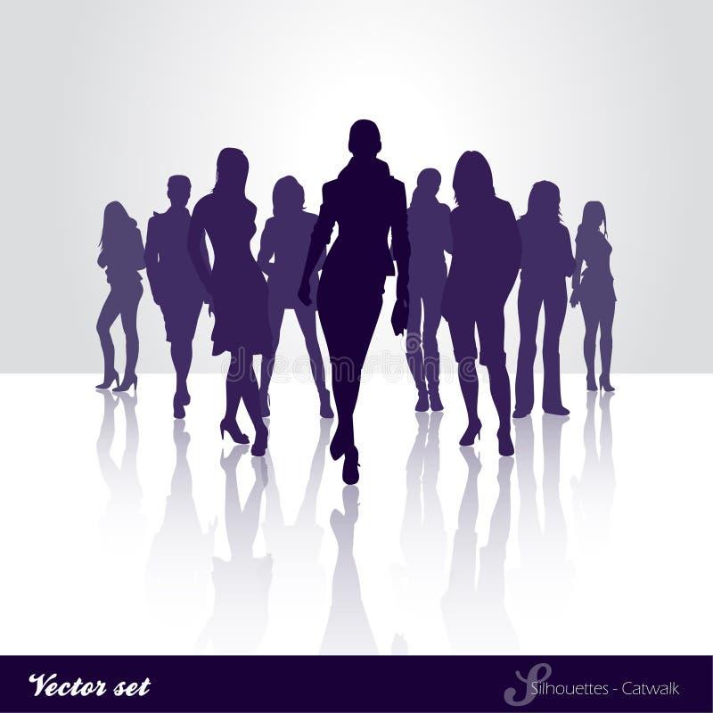 Passerelle de silhouette illustration libre de droits