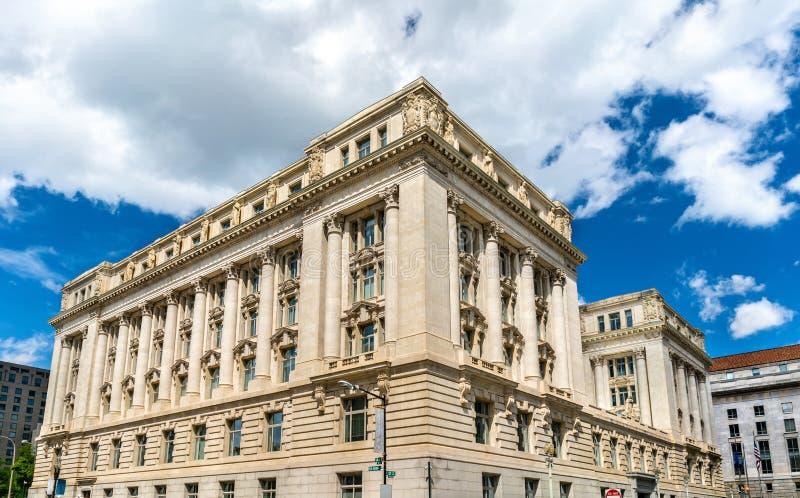 Passerelle de suspension de John A Wilson Building logeant les bureaux municipaux et les chambres du maire et du Conseil du secte photographie stock libre de droits