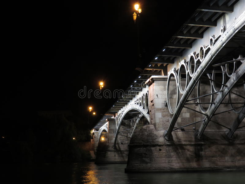 Passerelle de Triana photo libre de droits
