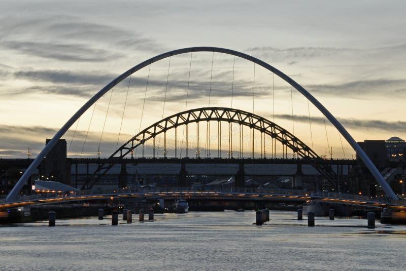 Passerelle de Tyne photographie stock libre de droits