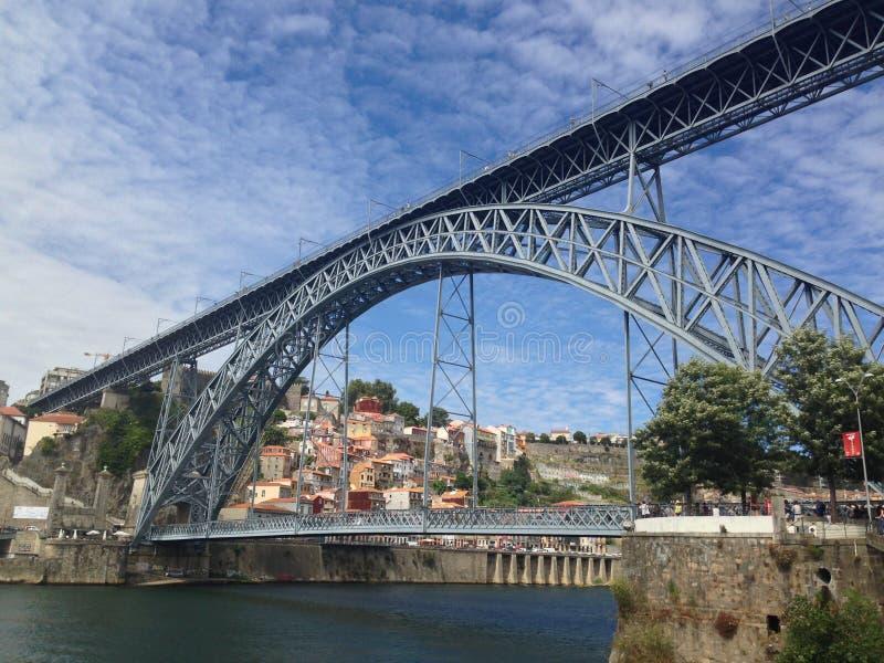 Passerelle des DOM Luis à Porto photos libres de droits
