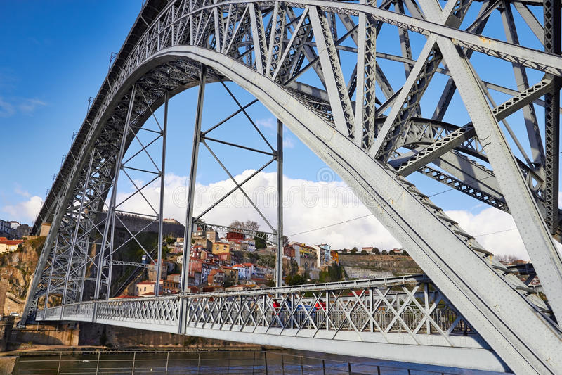 Passerelle des DOM Luis I à Porto photos libres de droits