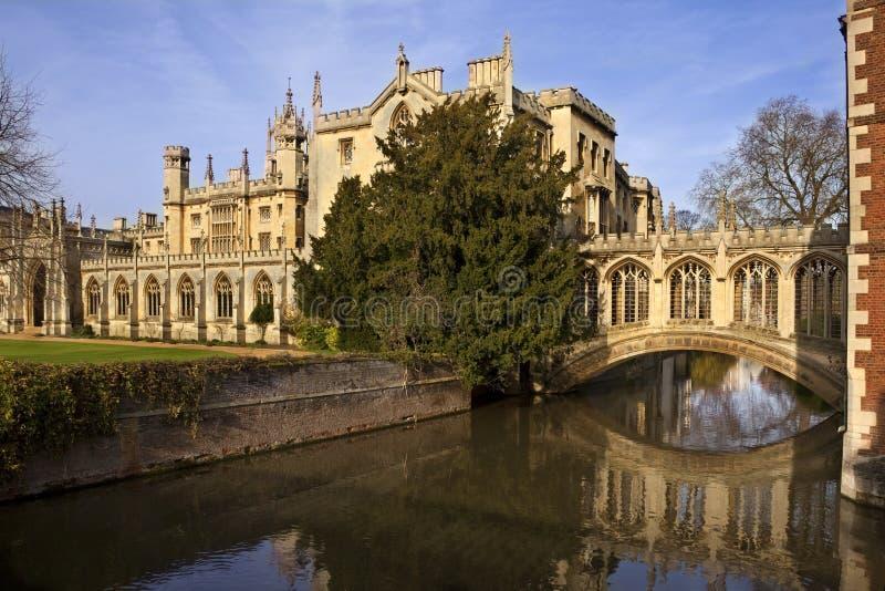 Passerelle des soupirs - Cambridge - Angleterre images libres de droits