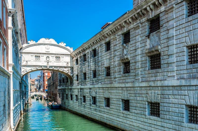 Passerelle des soupirs - Vencie, Italie photos libres de droits