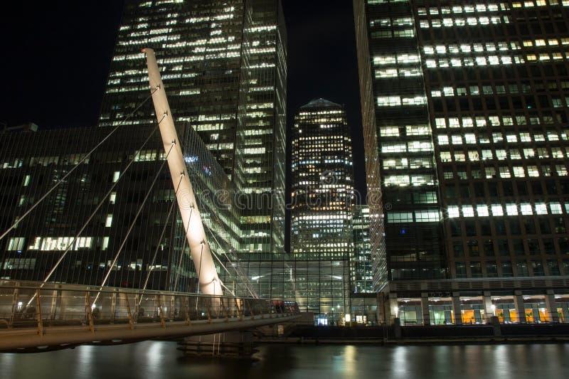 Passerelle du sud de Quay à Canary Wharf photographie stock