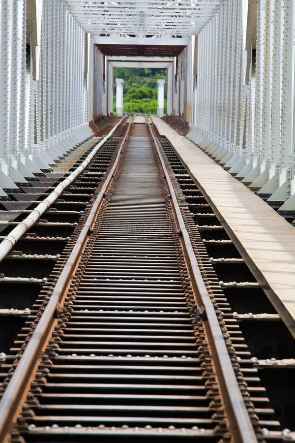 Passerelle en acier pour le train photo stock