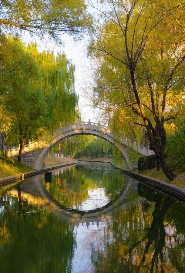 Passerelle en automne photos libres de droits